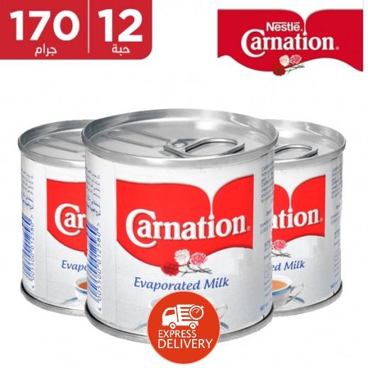 كارنيشن – حليب مبخر 170 جم (10 حبة + 2 مجاناً)