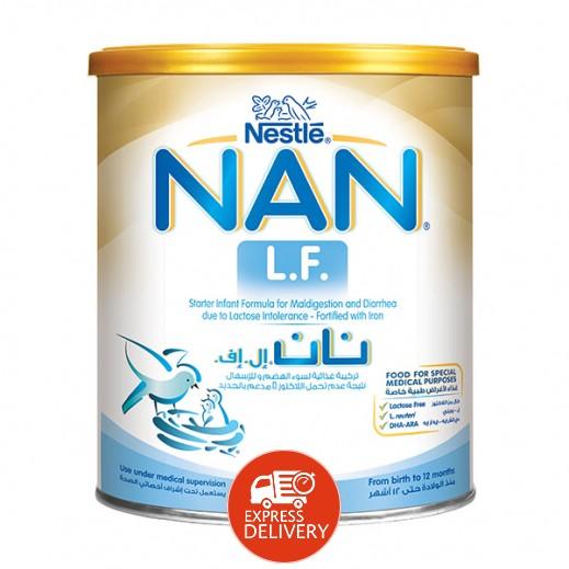 نان - غذاء حليب إل.إف مجفف للأطفال الذين يعانون سوء الهضم  400 جرام مرحلة 1 (من الولادة وحتي 12 أشهر)