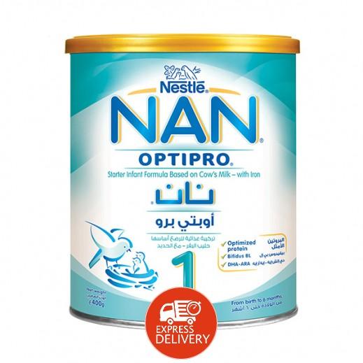 نان - غذاء حليب مجفف للرضع أساسه حليب البقر 400 جرام مرحلة 1 (من الولادة وحتي 6 أشهر)