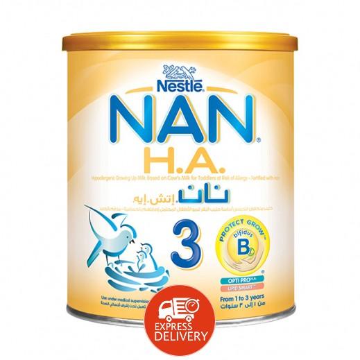نان - غذاء حليب إتش. إيه لمرحلة النمو مع الحديد  400 جم مرحلة 3 (1-3 أعوام)