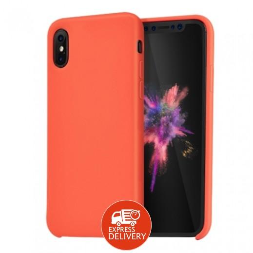 هوكو – غطاء حماية خلفي لهاتف ايفون XS / X – برتقالي