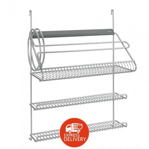 Metaltex 4-In-1 Kitchen Rolls Holder