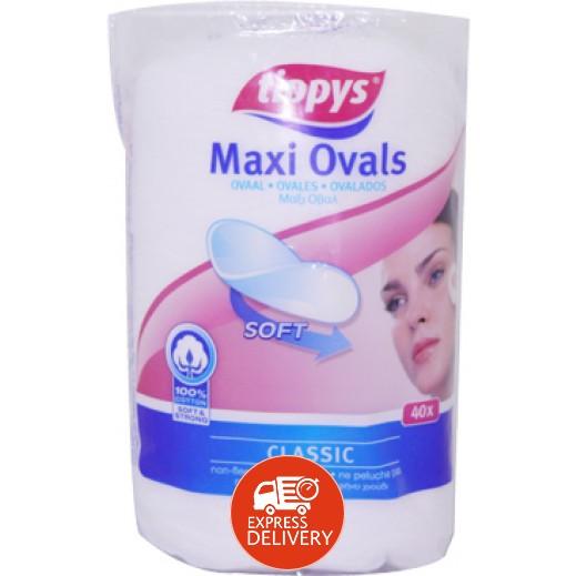تيبيس - مسحات تنظيف الوجه - 40 قطعة