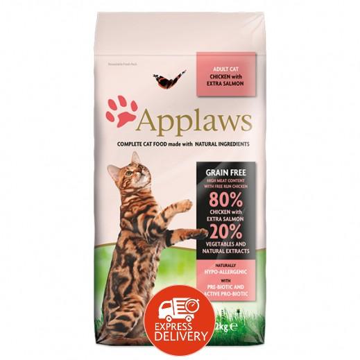 أبلوز – طعام القطط البالغة الجاف مع الدجاج والسالمون 2 كجم