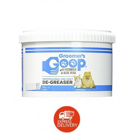 جرومرز جوب – مزيل شحم لفرو الحيوانات الأليفة بالالوفيرا وفيتامين E عبوة 396 مل