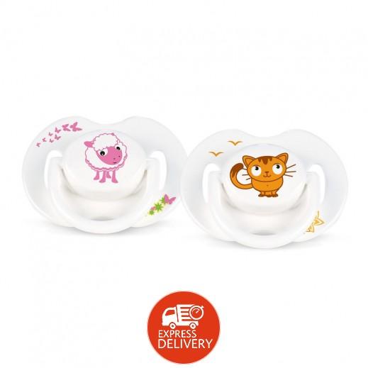 فيليبس – لهاية الأطفال مع رسوم حيوانات من عمر يوم حتى 6 أشهر – 2 حبة