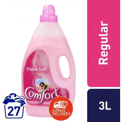 كومفورت – منعم الأقمشة (وردي) 3 لتر