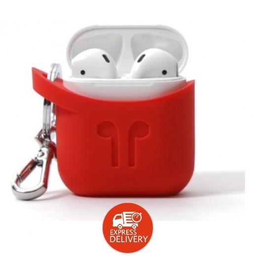بود بوكيت - غطاء سيليكون لسماعة أذن Airpod – أحمر