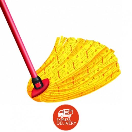 فيليدا – ممسحة ناعمة لتنظيف الأرضيات – أصفر