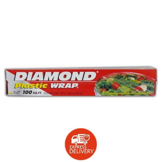 دايموند – رول شفاف بلاستيك لحفظ الطعام 100 قدم مربع