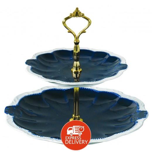 صينية تقديم 2 طبقة من البورسلان