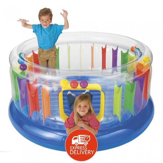 """إنتكس – نطاطية الأطفال الدائرية الشفافة """" جمب أو لين """" قطر 182 × إرتفاع 86 سم"""