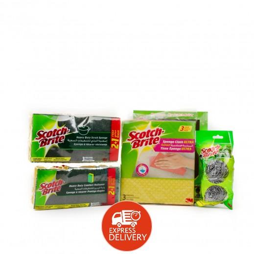 سكوتش برايت - مجموعة التنظيف - 11 حبة