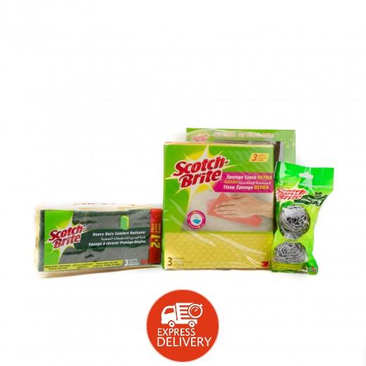 سكوتش برايت - مجموعة التنظيف - 8 حبة