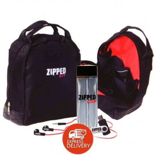 """زيبد - طقم هدية (عطر """"زيبد ريبيل"""" EDT للرجال 100 مل + سماعة أذن + درايف USB + حقيبة أدوات)"""