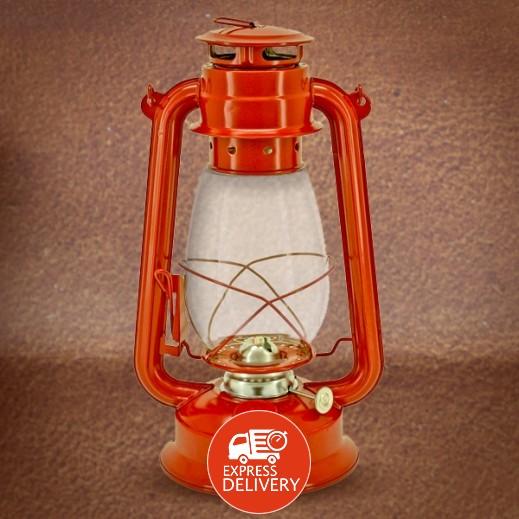 فانوس رمضان مع مصباح كيروسين - أحمر