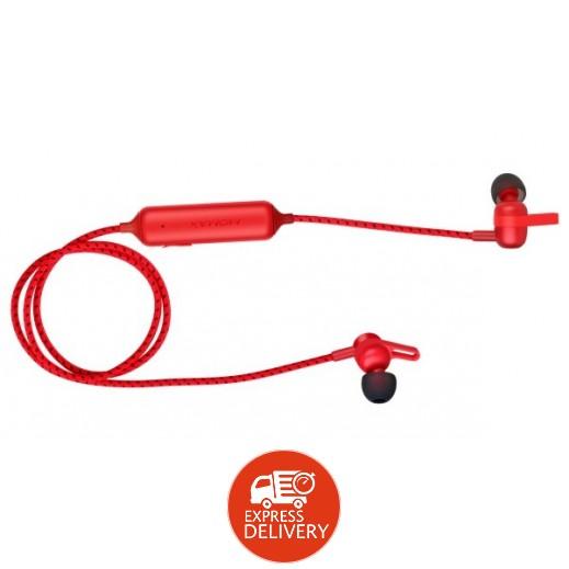 موماكس – سماعة أذن لاسلكية مغناطيسية مع مايك – أحمر