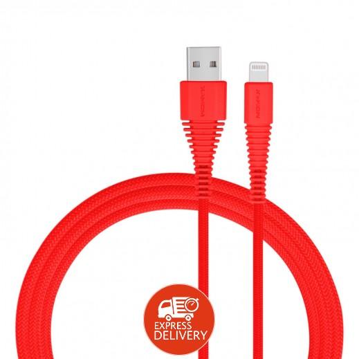 موماكس – كيبل شحن Lightning لأجهزة أبل طول 1.2 متر – أحمر