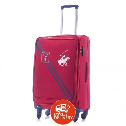 بولو - حقيبة سفر سيفين بقفل TSA حجم متوسط - أحمر