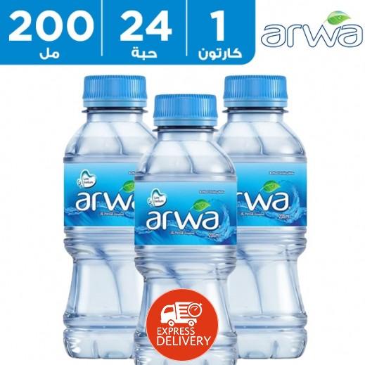 أروى – مياه شرب نقية 24 × 200 مل