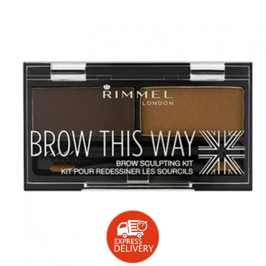 ريميل -مستحضر Brow This Way Brow Sculpting Kit Dark Brown 003