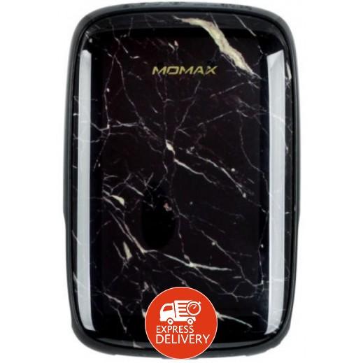 """موماكس – بطارية احتياطية """"آيباور آرت"""" ثنائي USB بقوة 9.000 مل أمبير – أسود"""