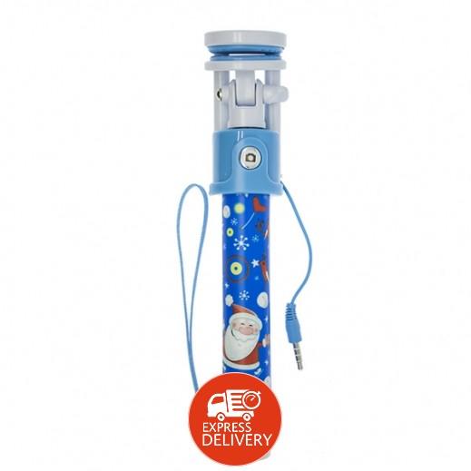 عصا السيلفي السلكية – ازرق