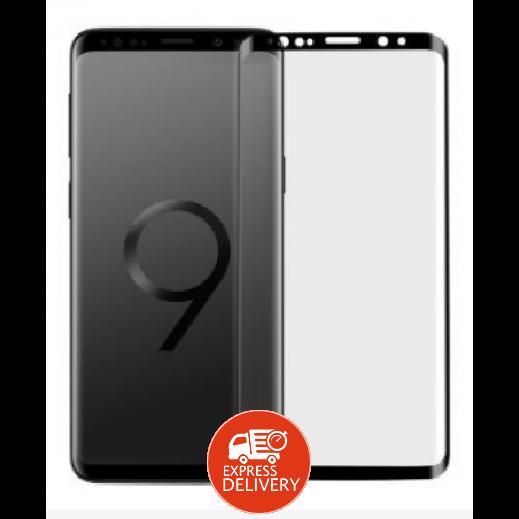 موماكس - حماية شاشة زجاجي لجالكسي +S9 – اسود