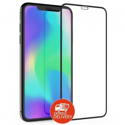 ترتل براند - حماية شاشة زجاجي ثلاثي الابعاد لهاتف ايفون XS Max – اسود