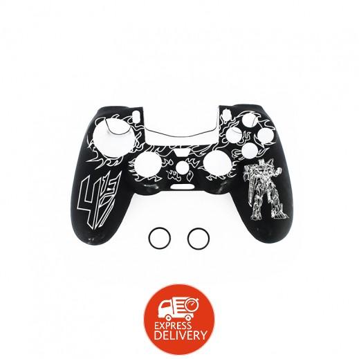 غطاء حماية ليد التحكم بلاي ستشن 4 أبيض × أسود