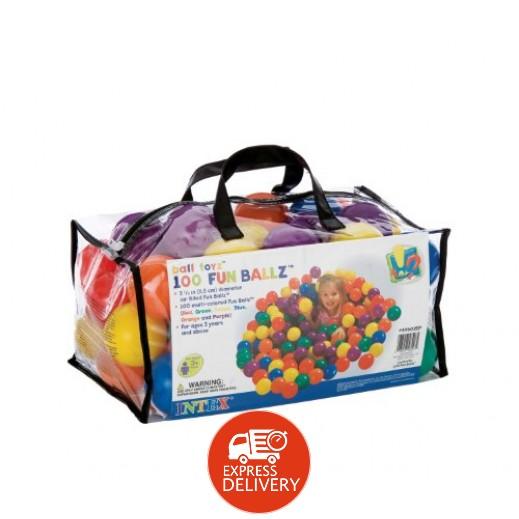 إنتكس – كرات اللعب الصغيرة  (100 كرة ملونة في حقيبة محمولة)
