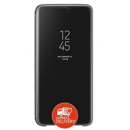 سامسونج – غطاء حماية مع رؤية واضحة لهاتف جالاكسي S9 – اسود