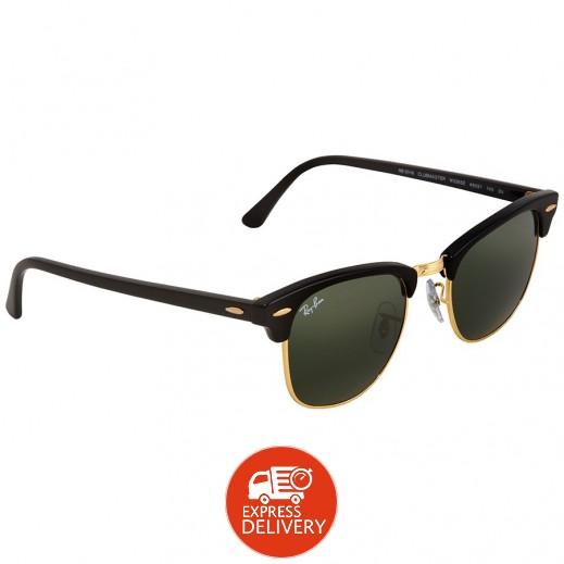 راي بان – نظارة شمسية كلاسيك لكلا الجنسين موديل Rb3016 أخضر/أسود 51 مم
