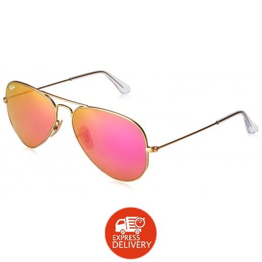 راي بان – نظارة شمسية فلاش سايكلامن لكلا الجنسين موديل Rb3025 رمادي 58 مم