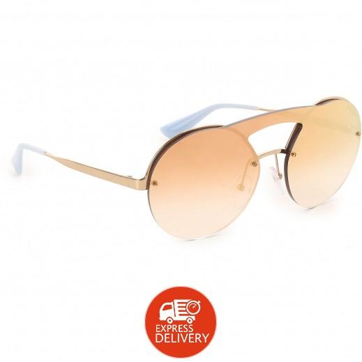 برادا – نظارة شمسية لكلا الجنسين وردي ذهبي ورمادي موديل (Spr65T)