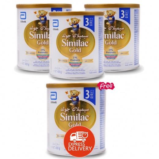 سيميلاك - حليب جولد للأطفال مرحلة 3 (من 1 حتى 3 سنوات) 400 جم 3 +1 مجاناً