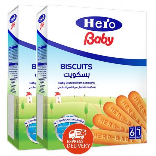 هيرو – بسكويت لتغذية الأطفال 2×180 جم (+6 أشهر)