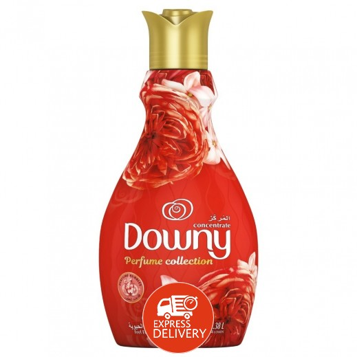 """داوني – منعم الأقمشة المركز """" احساس بالحيوية """" باللون الأحمر 1.5 لتر"""
