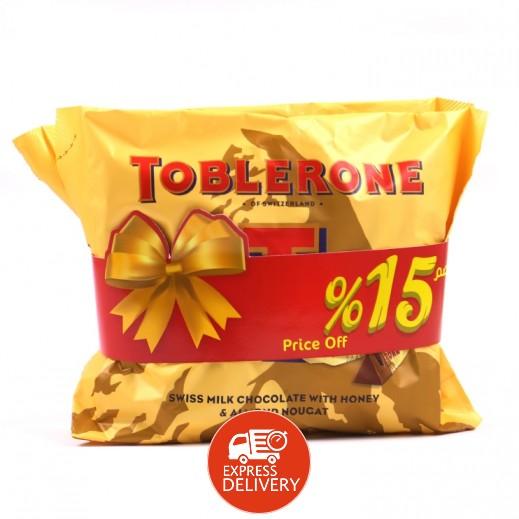 توبليرون - شوكولاتة الحليب بالعسل واللوز 2 × 200 جم