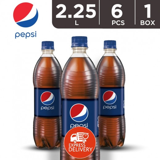بيبسي – مشروب غازي حجم عائلي 2.25 لتر ( 6 حبة )