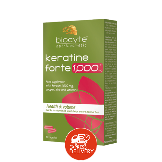 بايوسيت – مكمل غذائي بالكيراتين لتقوية الشعر 1000 ملجم – 40 كبسولة