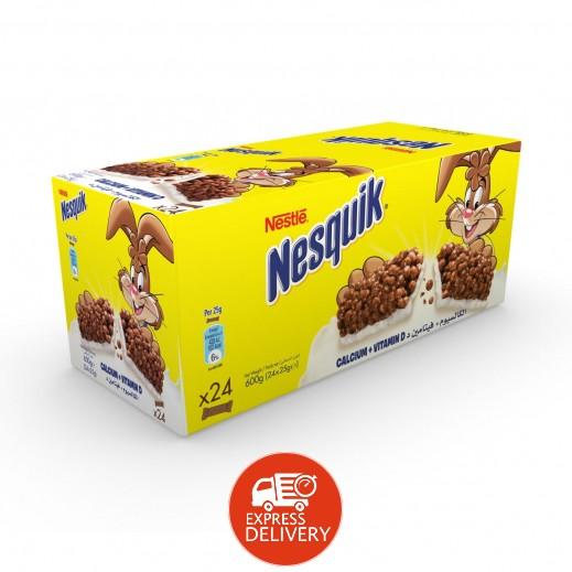 """نسكويك – ألواح حبوب الإفطار """" نسكويك """" بالشوكولاتة 24×25 جم"""