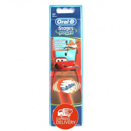 أورال بي - رأس فرشاة الأسنان الكهربائية القابلة لإعادة الشحن للأطفال - موديل (10EB)
