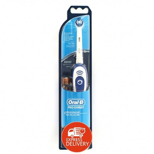 """أورال بي - فرشاة الأسنان """"إكسبيرت بريسيشان كلين"""" الكهربائية تعمل ببطارية - موديل (CLS)"""