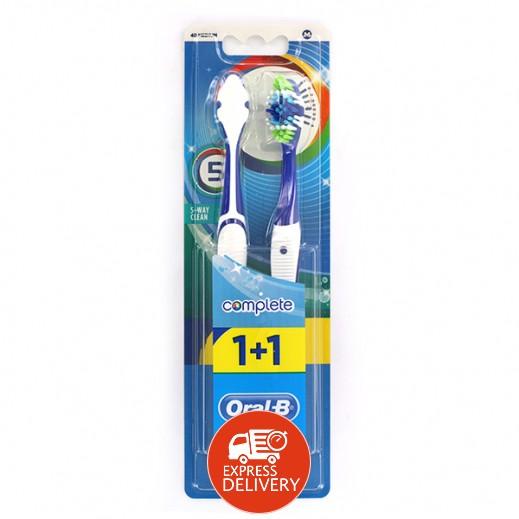 أورال بي – فرشاة أسنان بخمس طرق للتنظيف حجم 40 وسط (1+1 مجاناً)