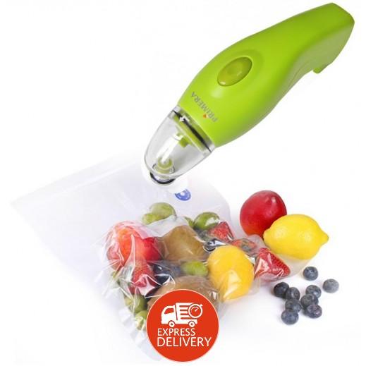 برايميرا حافظة مأكولات يدوية عن طريق شفط الهواء- اخضر