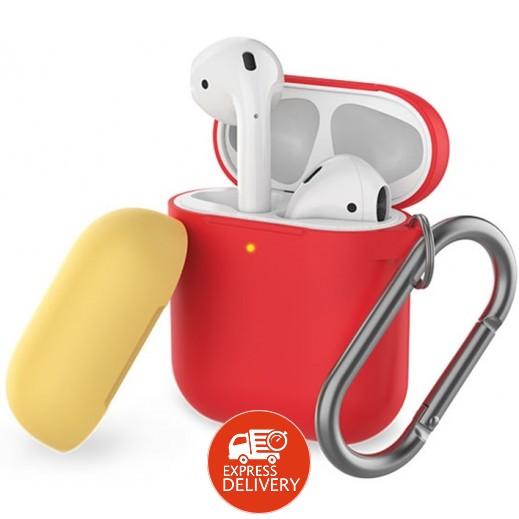 AHAStyle - غطاء حماية لسماعات ابل AirPods – احمر