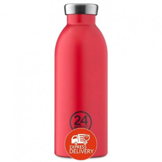 24 بوتلز - زجاجه مشروبات كليما الحرارية - أحمر 500 مل