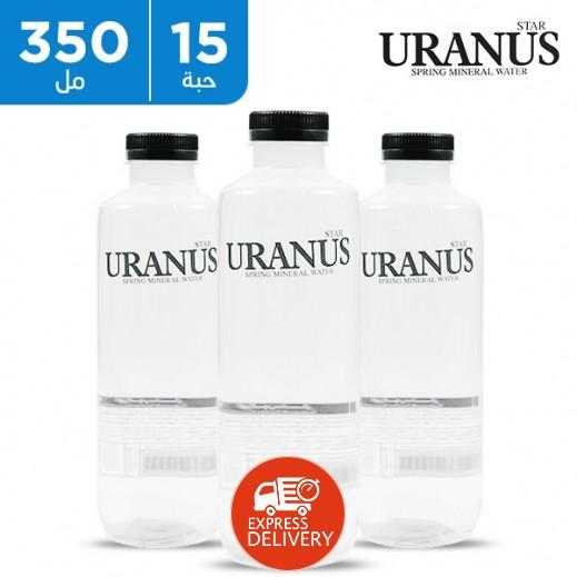 اورانوس ستار - مياه معدنية طبيعية - شفّاف 15 × 350 مل