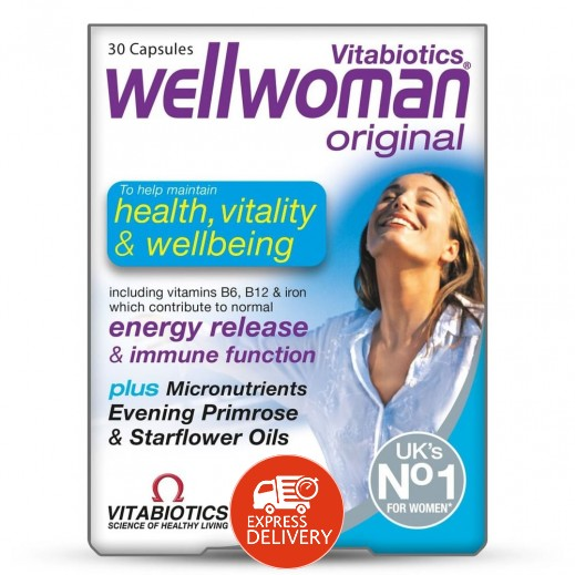 Wellwomen Orginal Health,Vitality & Wellbeing 30 Tablets